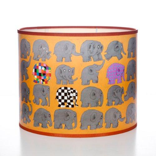 Elmer the Elephant - Pantalla redonda para lámpara, diseño de elefantes