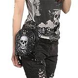 New Original weiblich Handtaschen Europa und den Vereinigten Staaten Steampunk Multifunktional Schulter Messenger Totenkopf schwarz Taschen