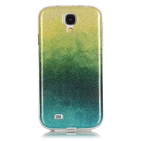 Pour Samsung Galaxy S4 SIV i9500 Coque,Ecoway Housse étui Flexible protection en TPU Silicone Shell Housse Coque étui creux Slim Case Cover Cuir Etui Housse de Protection Coque Étui Samsung Galaxy S4 SIV i9500