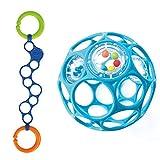 Oball Set - für Buben Oball Rattle blau mit O-Link blau