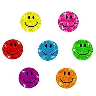 Oblique Unique® - 112 x Glitzer Sticker Smile - Regenbogen Sticker für Kinder