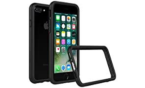 RhinoShield Bumper Case FOR IPHONE 8 Plus/IPHONE 7 Plus [CrashGuard] | Shock Absorbent Slim Design Protective Cover [3.5 M / 11ft Drop Protection] - Black