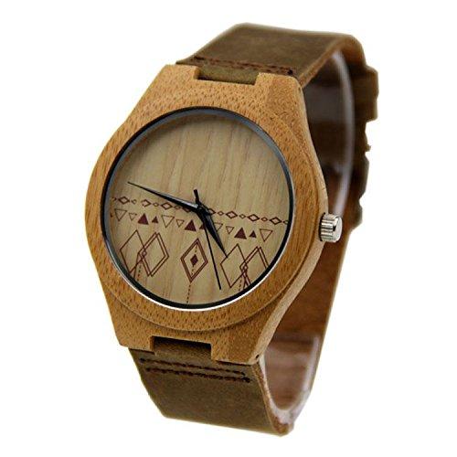 Shou&bz Il legno nuovo Orologi / Unisex / tempo libero e business / naturale legno (Multifunzionale Del Mens Cinturino)