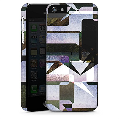 Apple iPhone 5 Housse étui coque protection Graphique Graphique Collage CasStandup blanc