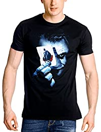 Batman The Dark Knight - T-Shirt Homme Joker Carte A Jouer - Noir