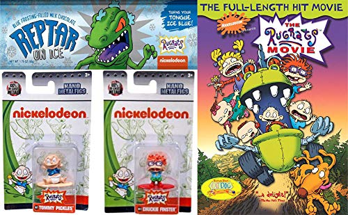 o Figures/ DVD/ Chocolate Bar Bundle: Nickelodeon Mini Metal Figs Tommy Pickles + Chuckie Finster & The Rugrats Movie (DVD) & Exclusive Blue Reptar Chocolate Bar ()