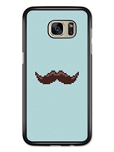 Micro Gorilla Moustache Retro Vintage Hipster Mustache Cross Stitch Blue Background Funny hülle für Samsung Galaxy S7 Edge -