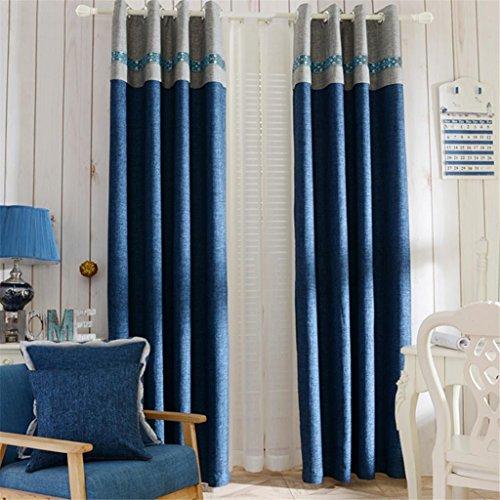 GYMNLJY Leinenvorhänge drapieren Lärm reduziere Warm Schutz Solide Thermoplatten für Schlafzimmer Blackout Fenster drapiert 1.5 * 2.7m (1 Platten), 1