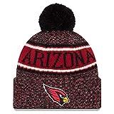 New Era Arizona Cardinals Beanie NFL 2018 Sideline Sport Reverse Knit Scarlet/Black - One-Size