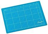 Läufer 86500 Schneideunterlage für DIN A4, schnittfeste Unterlage, blau, Schneidematte mit cm und inch Rasterung
