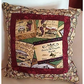 Kissenbezug mit Wein, 30×30 cm
