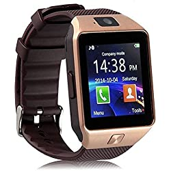 Trigent Smartwatch_Dz09_3 Bluetooth Smart Watch With Camera For All 3G,4G Phones (Brown)