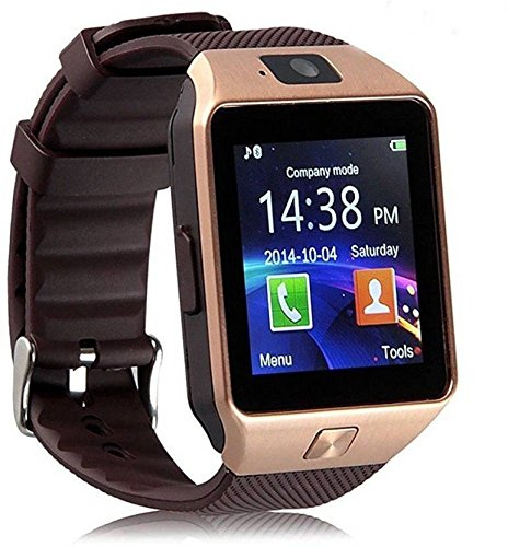 Premsons-Bluetooth-Smart-Wrist-Watch-Phone-With-Camera-Sim-CardGold-Brown