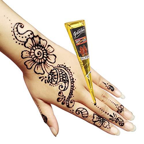 CIHKIKO 5 Teile/los Schwarz Tattoo Tube für Körper Kegel Henna Tattoo Temporäre Körperkunst Malerei Produkte (Kegel ärmel)