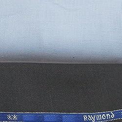 Raymond Trouser DeepGrey and CottonHub Shirt Blue Fabric set
