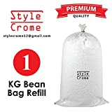 #7: Style Crome A-Grade premium quality bean bag filler for refilling your existing bean bag 1 Kg, Size 8 mm to 10 mm