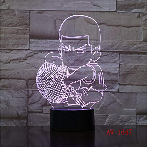 Lampejl Nachtlichter 3D Visuelle Basketball Boy Led Nachtlicht 7 Farbe Home Tisch Party Bar Decor Lampe Jungen Mann Kinder Favor Decor Geschenke Basis Knacken