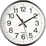CursOnline Orologio da Parete Big 237 al Quarzo Silenzioso senza Tic Tac 'Ticchettio' D.37cm, Cucina, Salotto, Ufficio Cod.Z11343