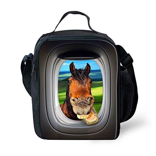 Showudesigns carino stampa animale borsa porta pranzo per bambini con tracolla, color 7, small color 9