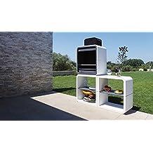 Barbacoa de Obra , diseño orgánico, funcionalidad y facilidad de montaje, De hormigón bruto
