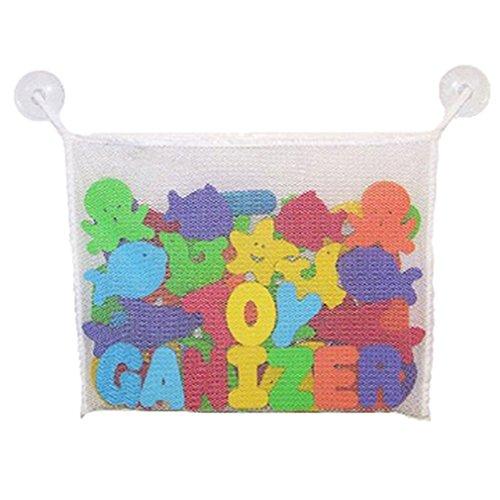 HENGSONG Baby Badezimmer Netto Bag Bath Aufbewahrungstasche Badewannen Organizer Ordentlich Toys Mesh Beutel (Weiß) (Möbel Lagerung Körbe)
