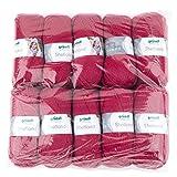 Gründl Shetland, Vorteilspackung 10 Knäuel à 100 g Handstrickgarn, 80% Polyacryl, 20% Wolle, Rot, 55 x 40 x 10 cm
