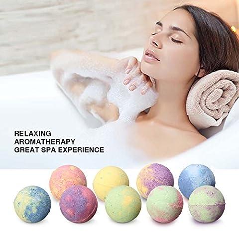 Skymore 9PCS Bath Bombs Gift Set, All Natural Essential Oil Lush bath Bomb , Fizzy Bath Salt for Moisturizing Dry Skin,Best Gifts for Birthday/Children/women/Man ,Size 15 x 15 x 5