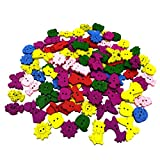 #4: MagiDeal 100Pieces Assorted Animals Shape 2-holes Flatback Wooden Buttons for Sewing Craft Card Making Sewing Decoration