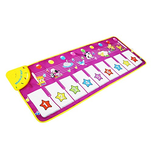 Piano Mat, Musical Carpet Baby Toddler Activity Gym Play Mats ,Shayson Baby Early Education Music Piano Keyboard Blanket Touch Play Safety Learn Singing funny Toy for Kids