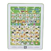 Arabisch Engels leermachine, Jeugd Arabisch Maleis Engels leermachine Puzzel Tablet lezen speelgoed Perfecte verjaardag/kerstcadeau(Groen)