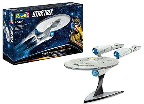 Revell Modellbausatz Star Trek - U.S.S. Enterprise NCC-1701 im Maßstab 1:500, Star Trek Into Darkness, Level 4, originalgetreue Nachbildung mit vielen Details - 04882