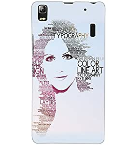LENOVO A7000 PLUS TYPHOGRAPHY Back Cover by PRINTSWAG