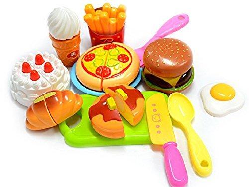 ZeroShop(TM) Plastic Children Kids Cutting Birthday Party Kitchen Food Pretend Play