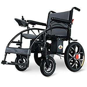 EMOGA Heavy Duty Electric Wheelchair, Foldable And Lightweight Powered Wheelchair, 360° Joystick, Weight Capacity 150KG