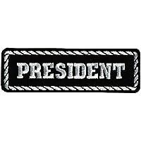 Patch escudo Estatuto president- moto Club Custom