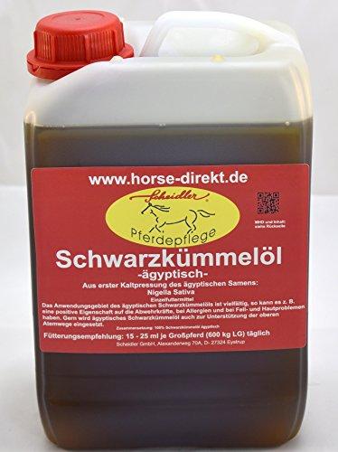 Horse-Direkt Schwarzkümmelöl 5L, original ägyptisch, kaltgepresst, Pferde, Hunde
