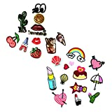 #5: MagiDeal 25 Pieces Embroidered Patches Iron/Sew On Motif Transfer Badge Bag Clothing Applique Craft DIY