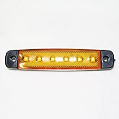 Boloromo 987 – Luci di posizione, 1 x 6 SMD LED per camion, 12 V, arancione, giallo