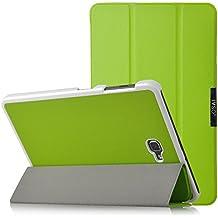 Samsung Galaxy Tab A 10.1 Funda Case - IVSO Slim Smart Cover Funda Protectora de Cuero PU para Samsung Galaxy Tab A 10.1 2016 T580N/T585N Tablet(Verde)
