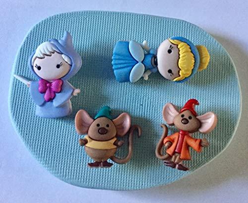 Cinderella Silikonform für Cupcakes, süßes Design