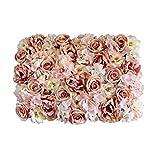 Sharplace Künstliche Blumen Säule Wand, Kunstblumen Panel für Garten Hochzeit Dekor - Hell-Rosa, 60 x 40 x 9 cm
