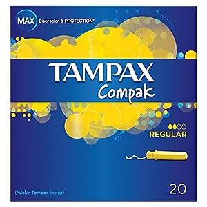 ( 6 Pack ) Tampax Compak Regular Applicator Tampons x20