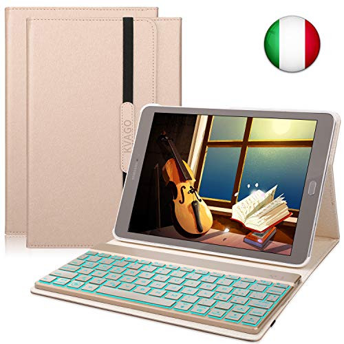 tablet samsung galaxy tab s2 KVAGO Custodia Tastiera per Samsung Galaxy Tab S2 9.7