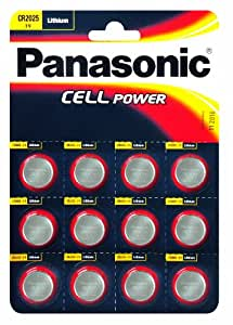 Panasonic CR2025 12 piles bouton au lithium (Import Royaume Uni)