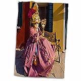 3dRose Italia, Venecia, Carnaval Festival Disfraces Eu16 Bja0793 Jaynes Gallery Toalla Blanco, 15 x 22 Pulgadas