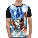 VOID Goku Grafik T-Shirt Herren All-Over Druck Turtle Ball z Songoku Dragon, Größe:M