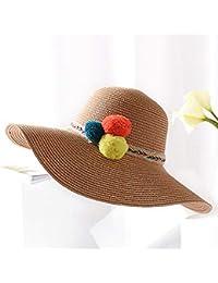 ZXCVBM New Girl Summer Cappello di Paglia per Le Donne Estate Femminile Big  Brim Sun Hat 1110b23a9023