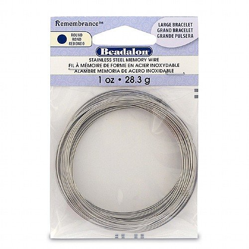 Remembrance Memory Wire Bracelet .62mm .25oz-Bright 60 Coils