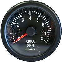 Simoni Racing TM/B Cuentavueltas 0-8000 RPM, Negro