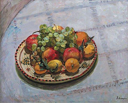 The Museum Outlet – L'Assiette avec pommes et raisins, 1925, Tendue sur toile Galerie enveloppé. 50,8 x 71,1 cm